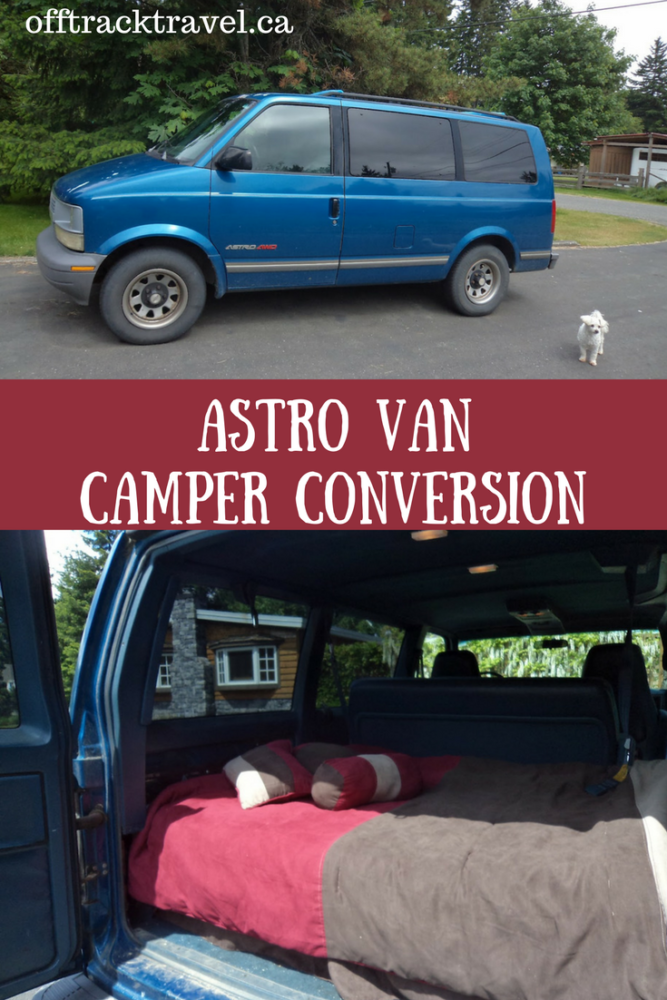 Our first update of our Astro Van Camper Conversion. Includes a basic bed setup behind the middle seats