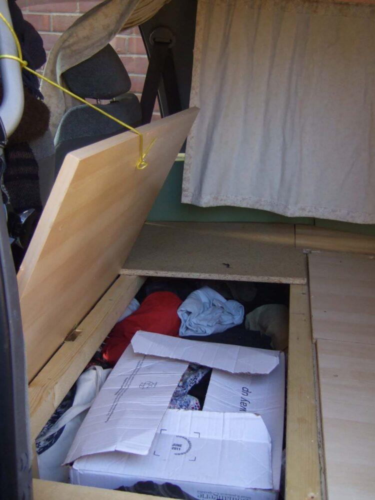 bed storage estima lucida toyota conversion
