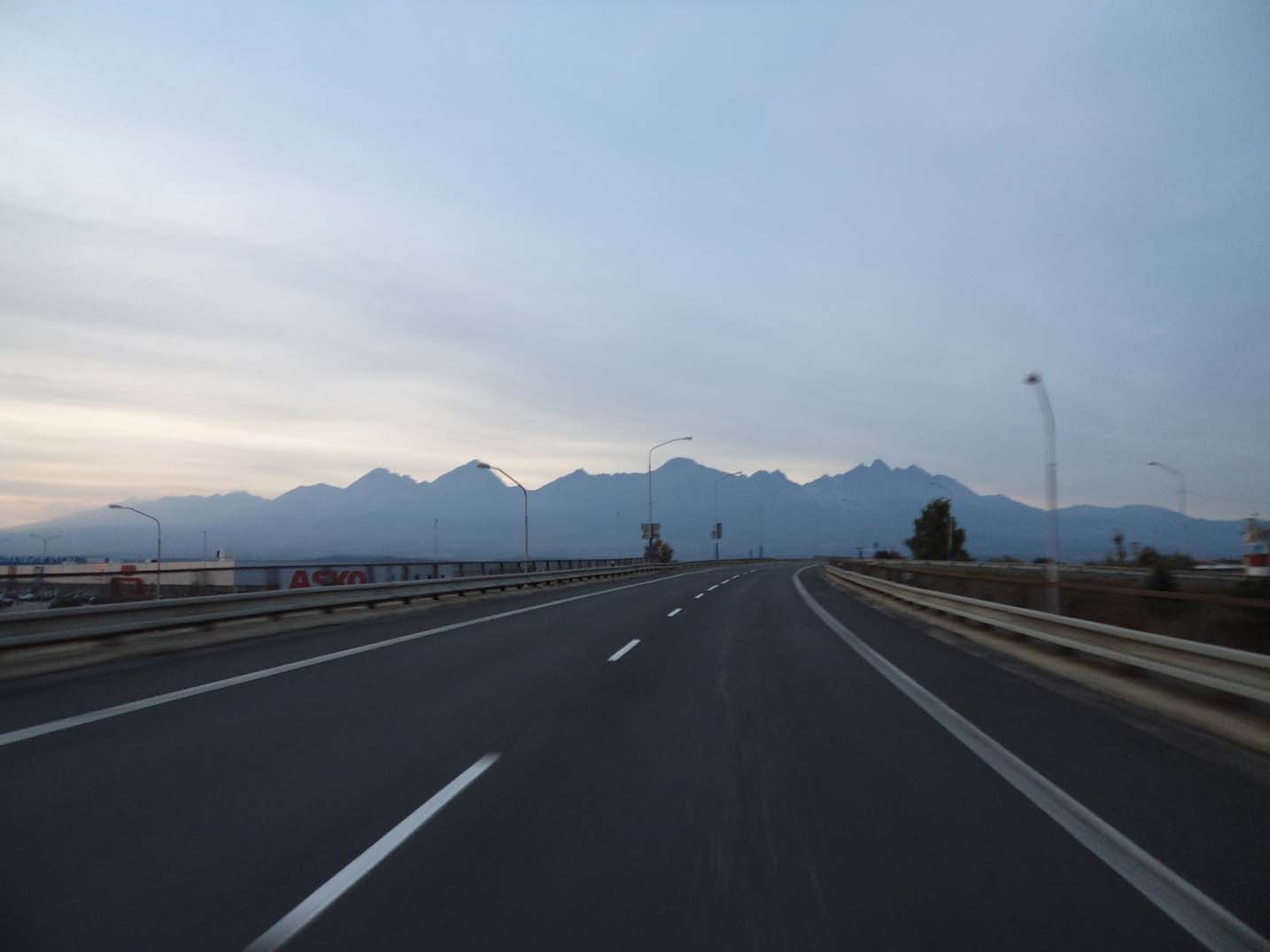 7 Lessons We Learned While Driving Europe - approaching the mountains in Slovakia