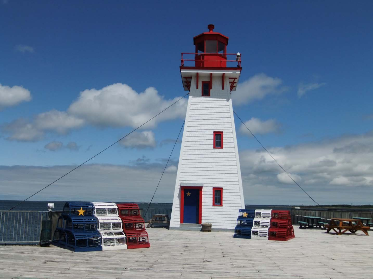 Acadian lighthouse in Shippagan, New Brunswick