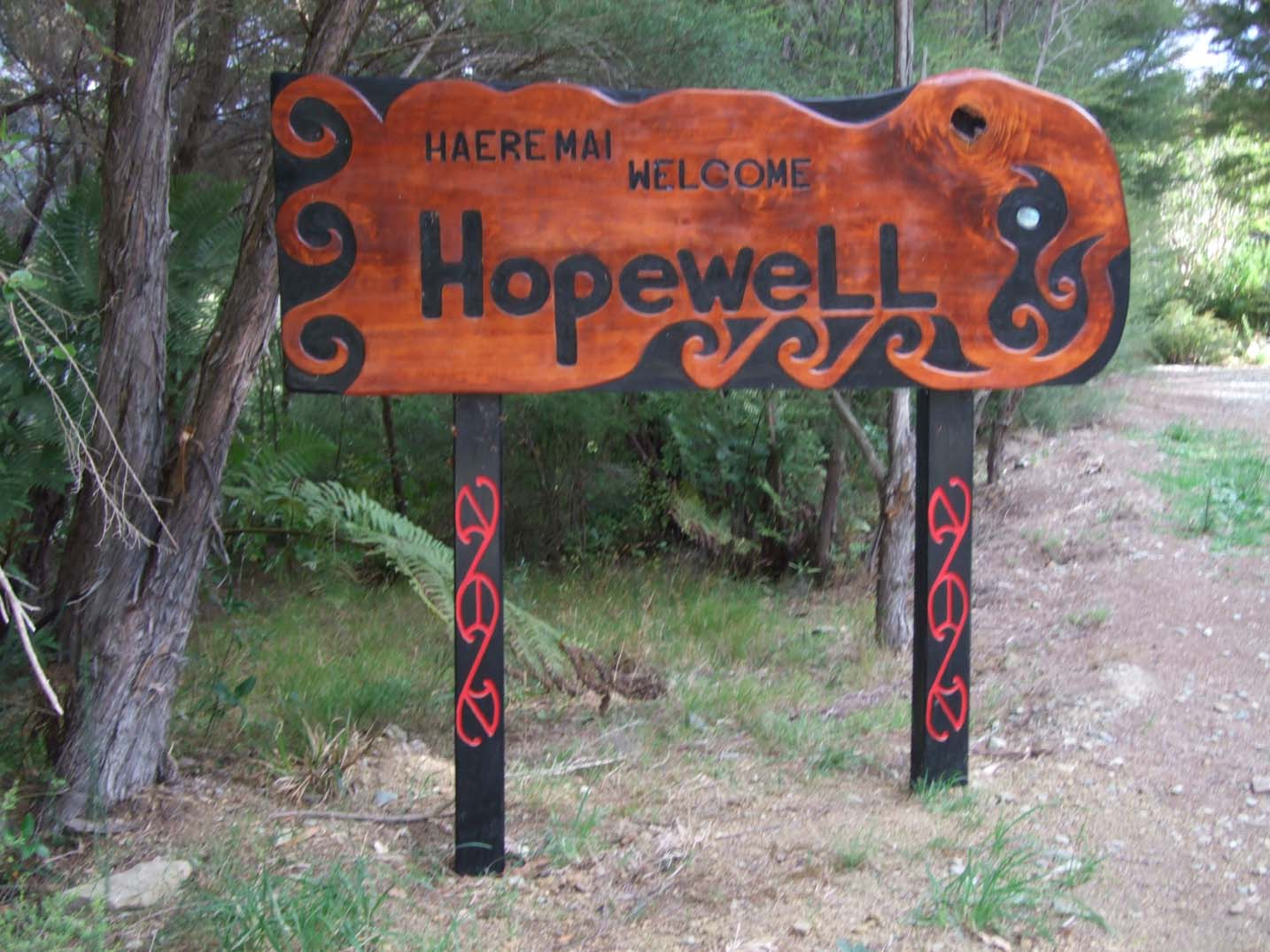 Hopewell Sign - Coolest Hostels in New Zealand
