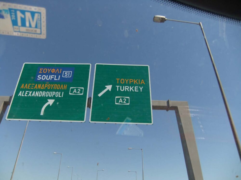 london to istanbul road trip sign