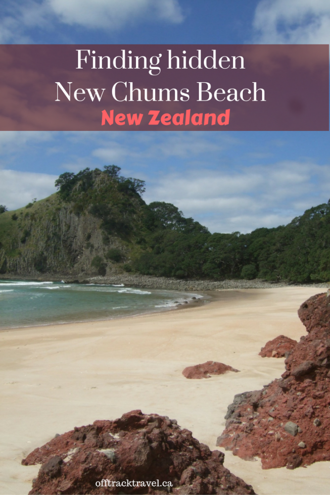 Finding Hidden New Chums Beach - one of the best beaches in New Zealand. offtracktravel.ca