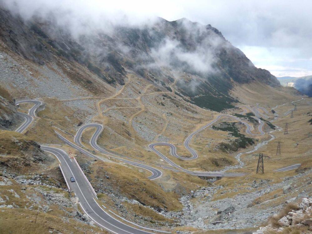 Transfargarsan road in Romania