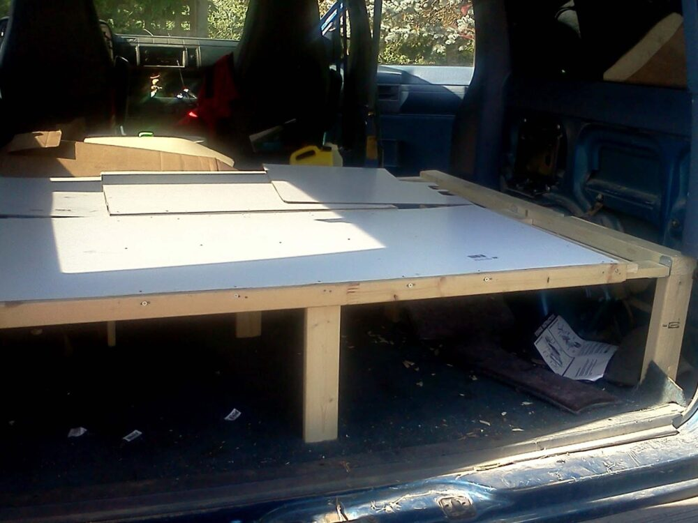 Astro Van Conversion Update 2 - Building a bed