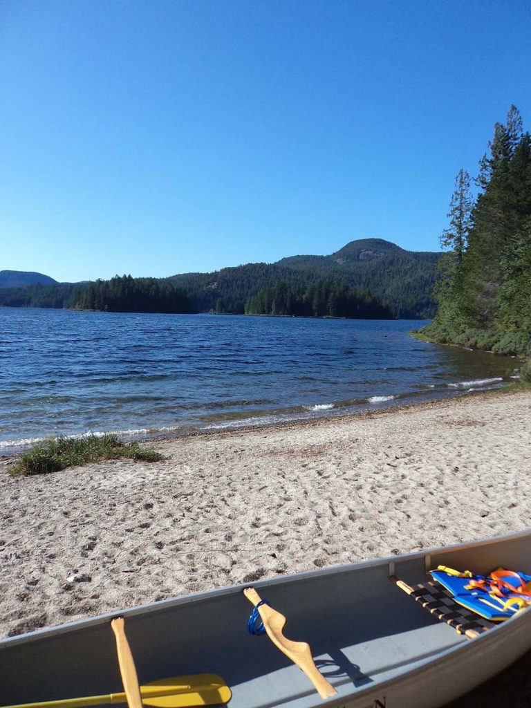 quadra island main lakes beach campsite