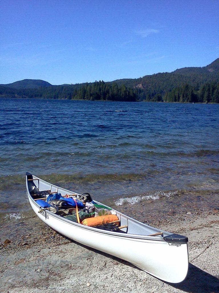 quadra island main lakes canoe route