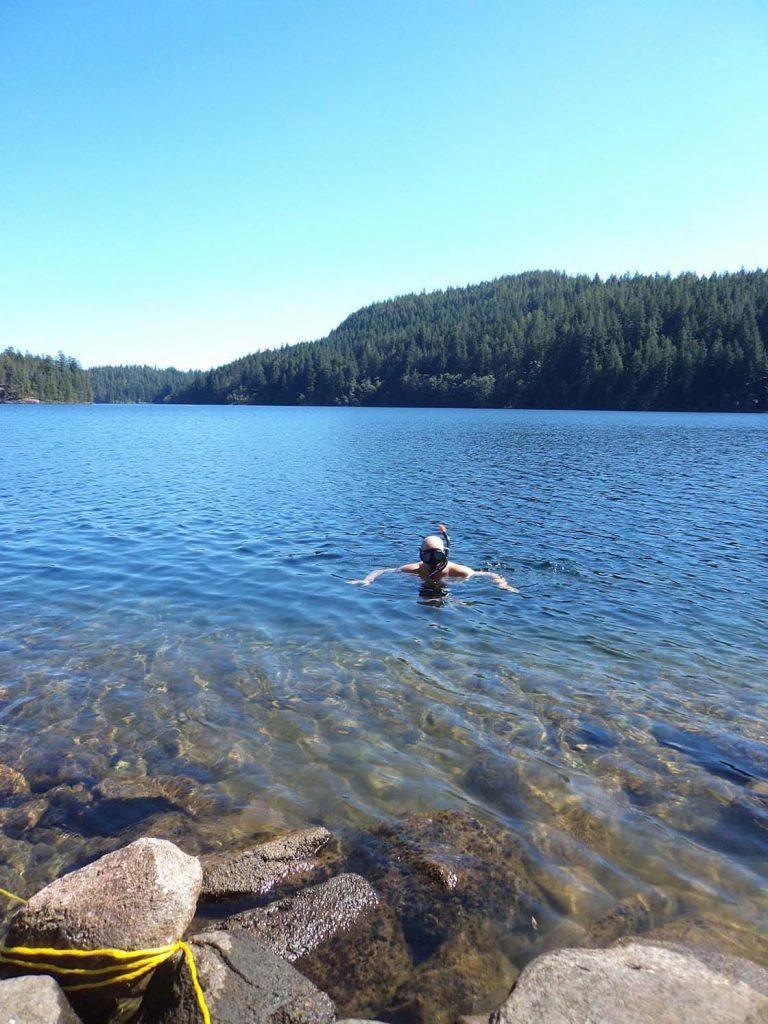 quadra island swimming main lakes