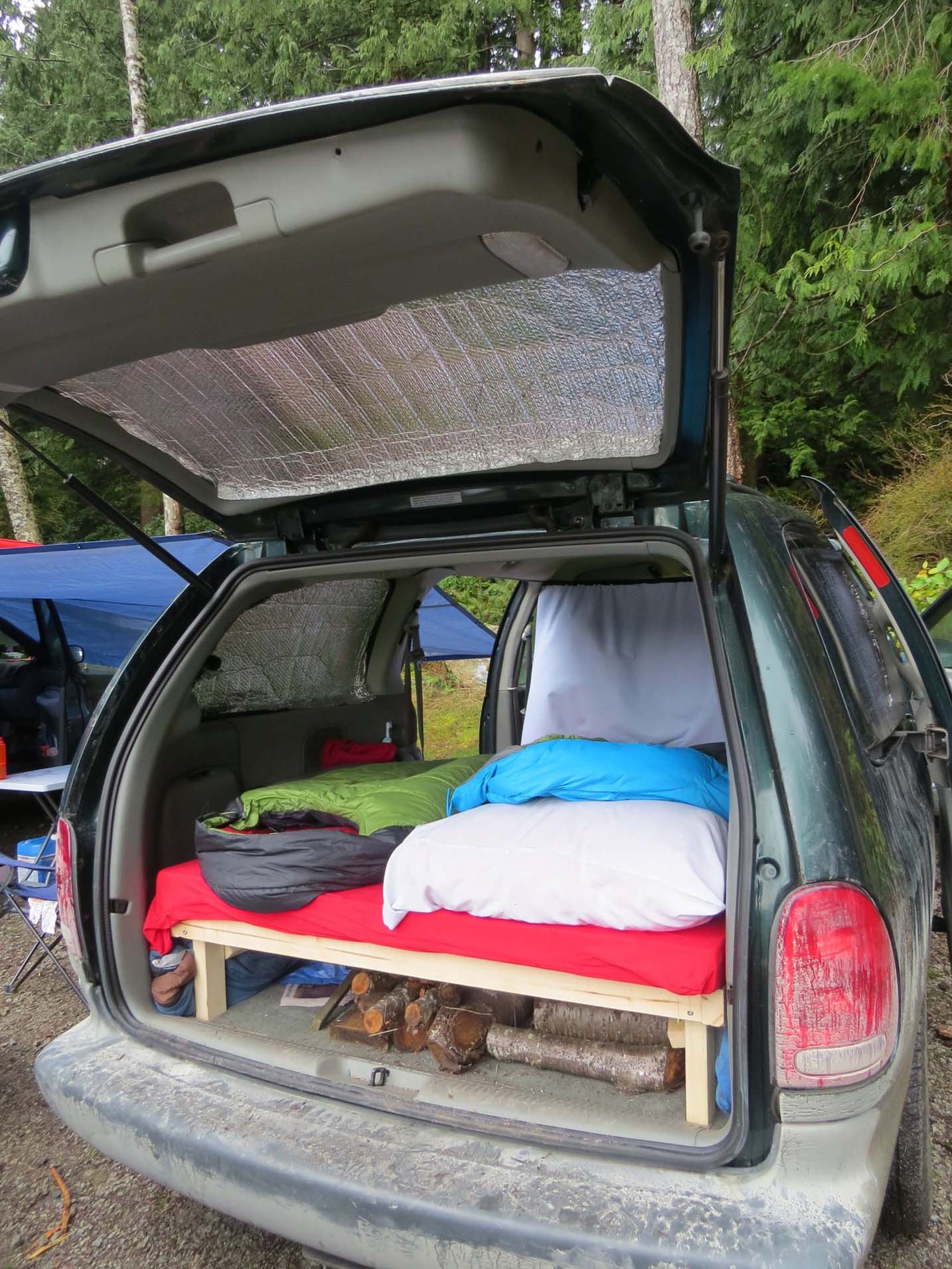 Plymouth Grand Voyager And Mazda 4x4 Homemade Campervan