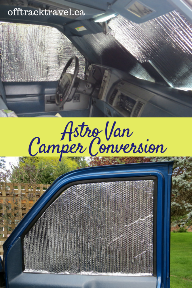 Our third update for our Astro Van Camper Conversion. New tires (better for gravel roads) and window covers are added to the van. offtracktravel.ca