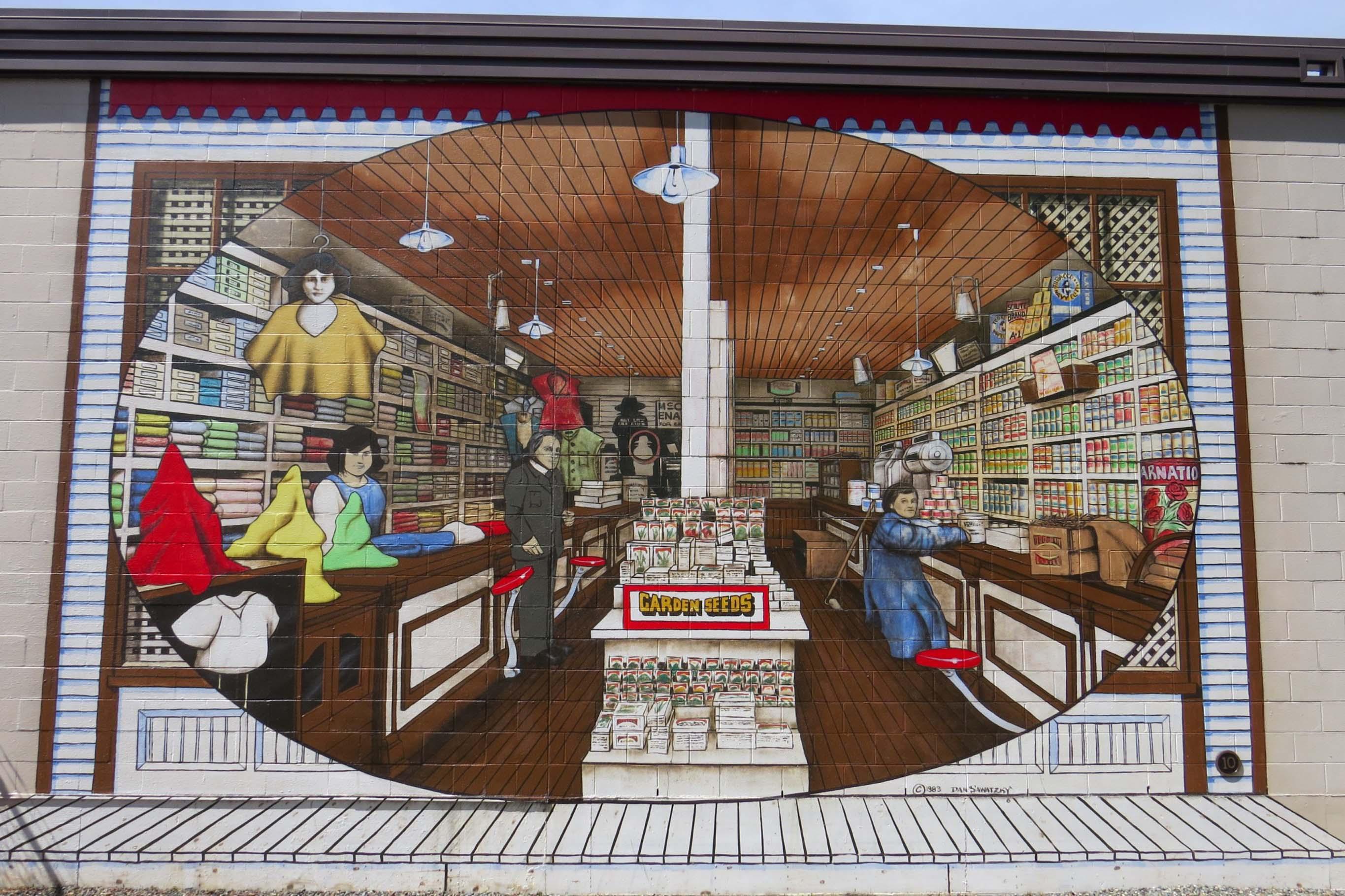 Chemainus shop mural