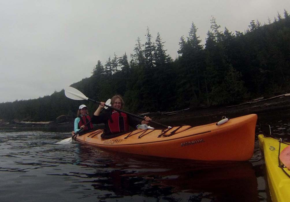 kayaking with wildcoast double kayak