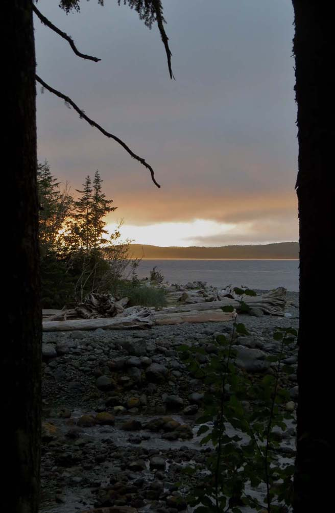 sunset view orca camp