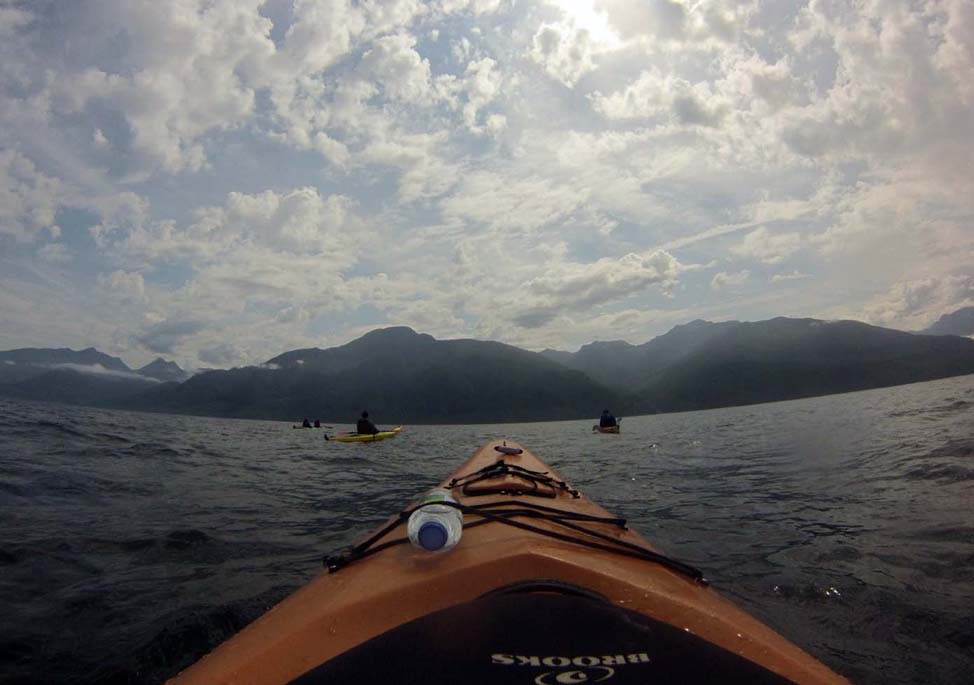 Kayaking at OrcaCamp, Vancouver island