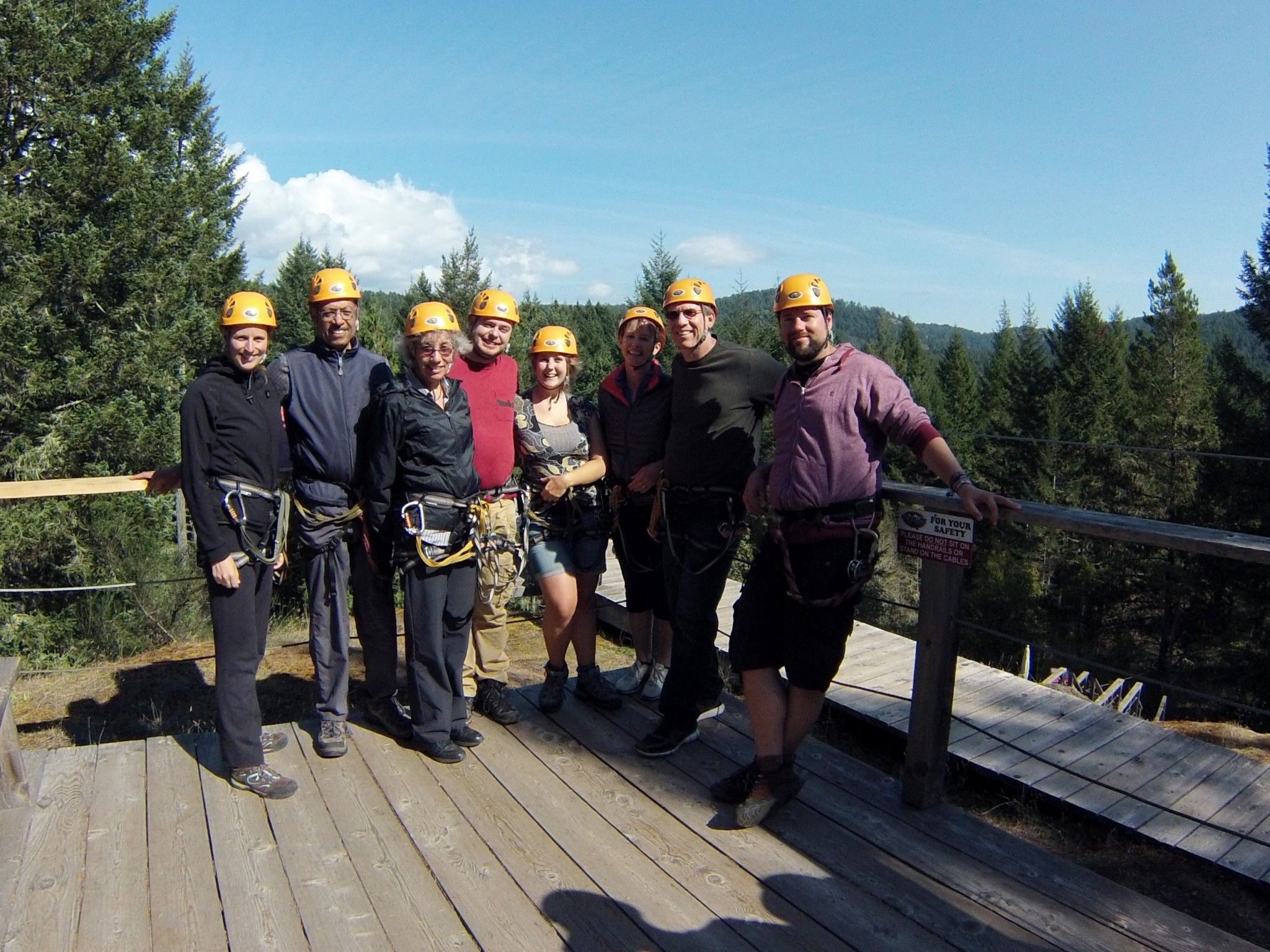 Ziplining group