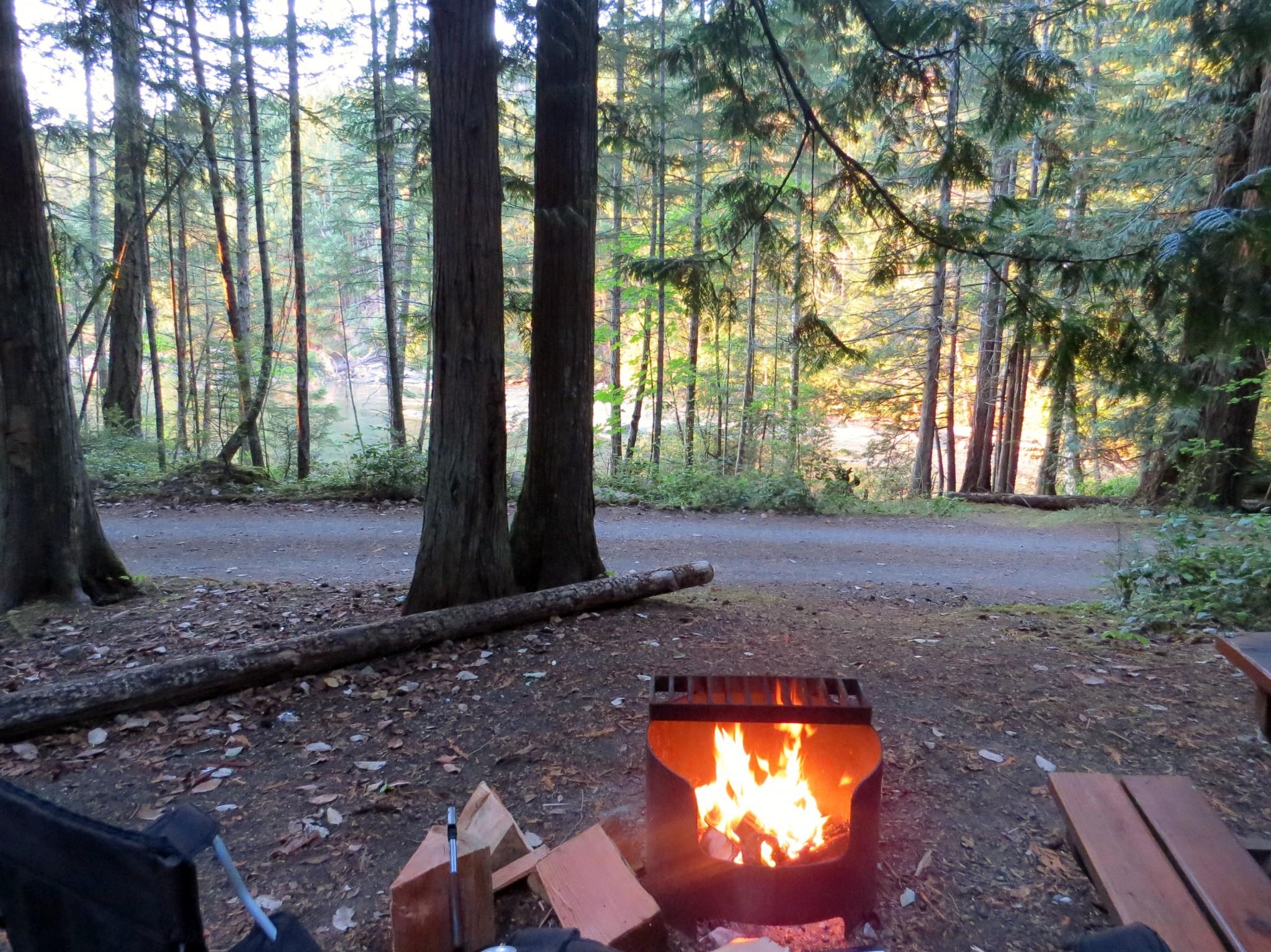 Campsite at Gabriola Island Regional Park