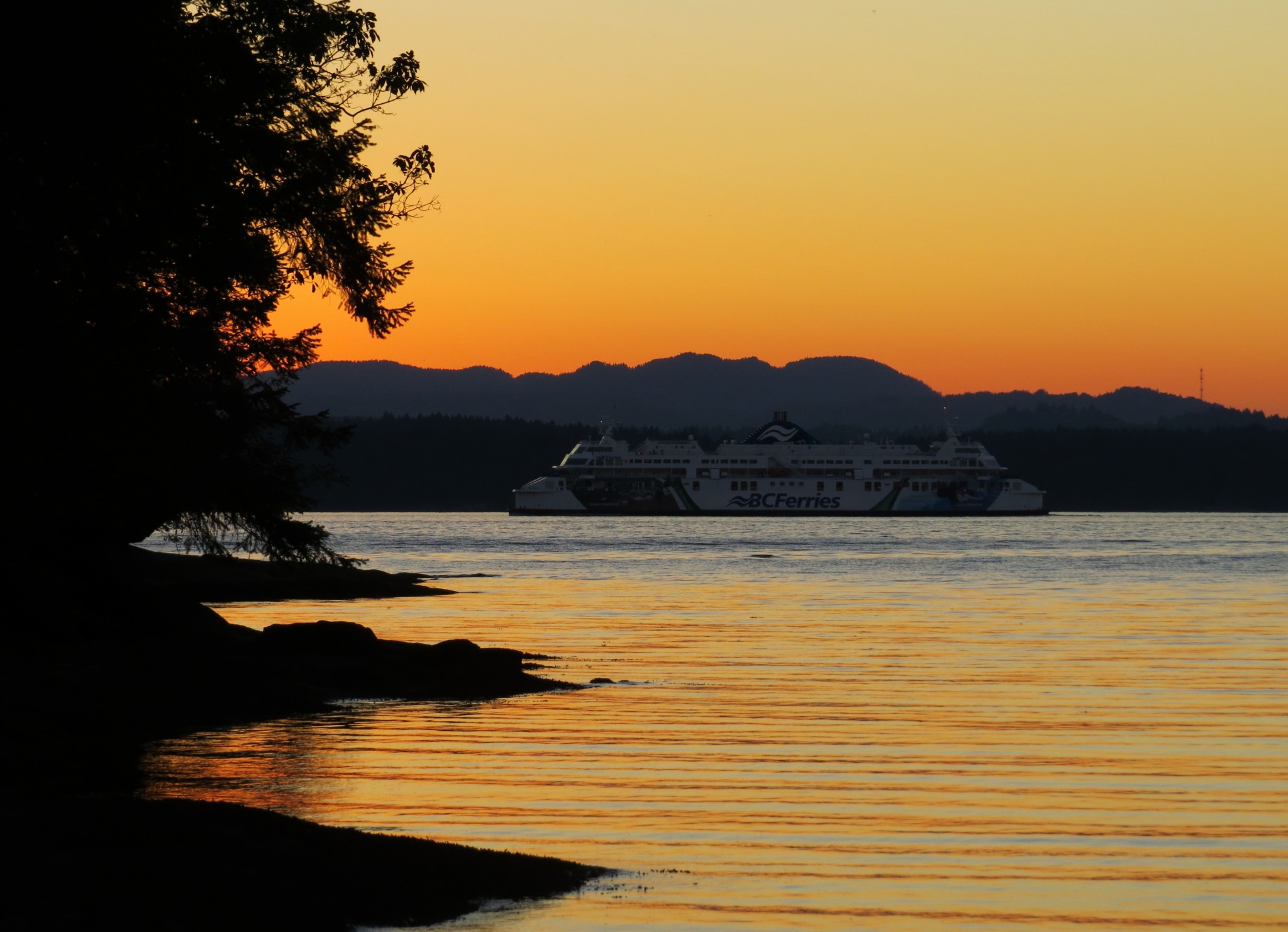 BC Ferry view from Gabriola Island, BC