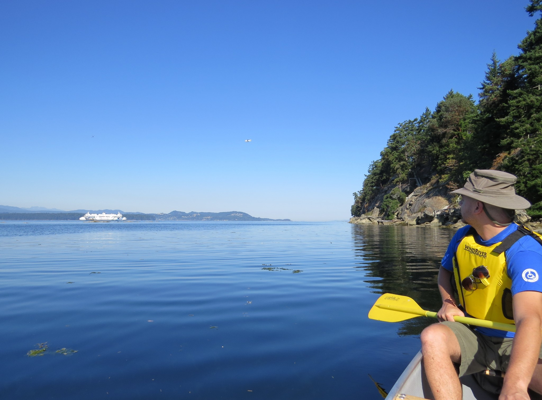 JR paddling and BC ferry in the background