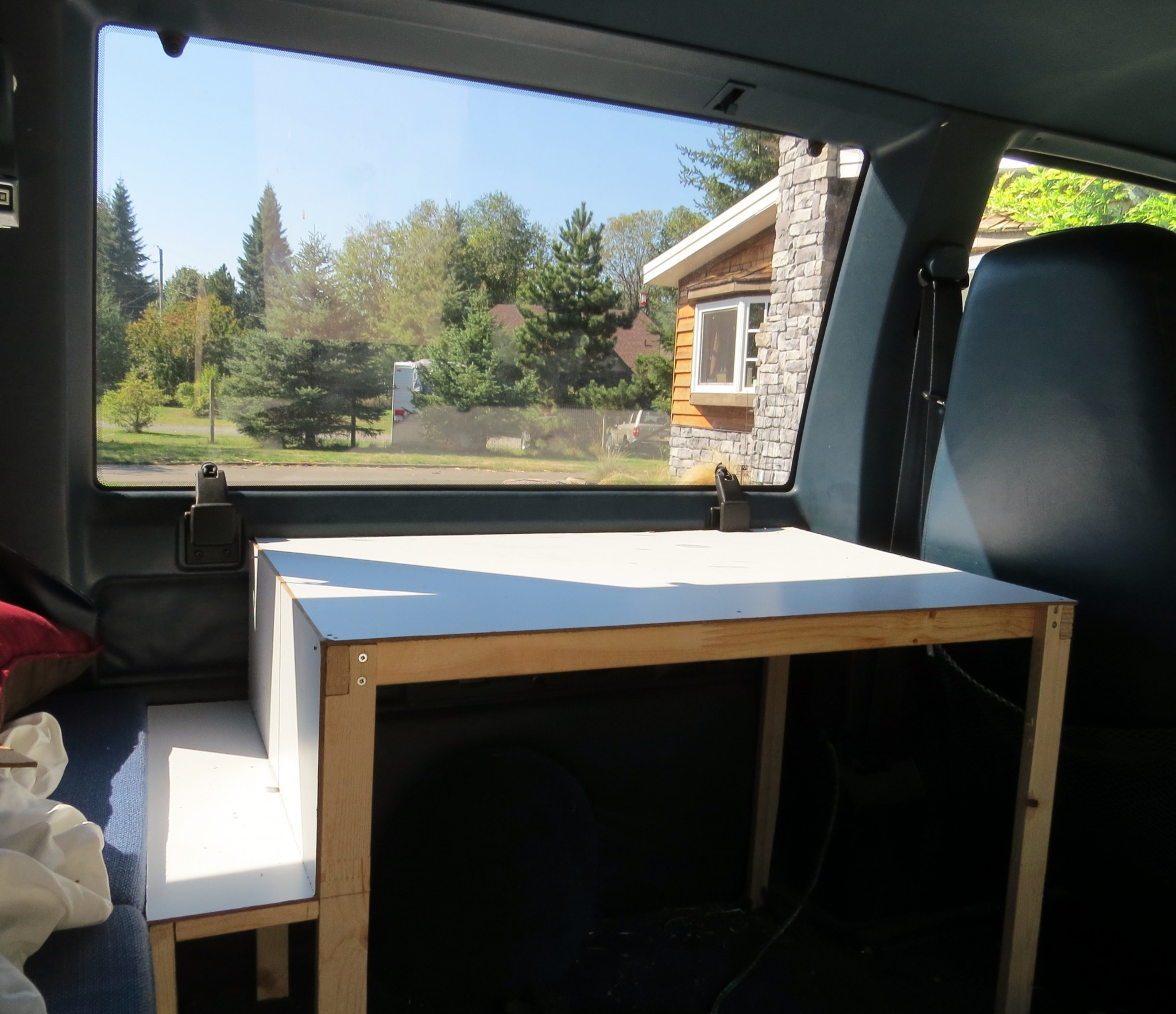 Astro van conversion cabinet construction 2