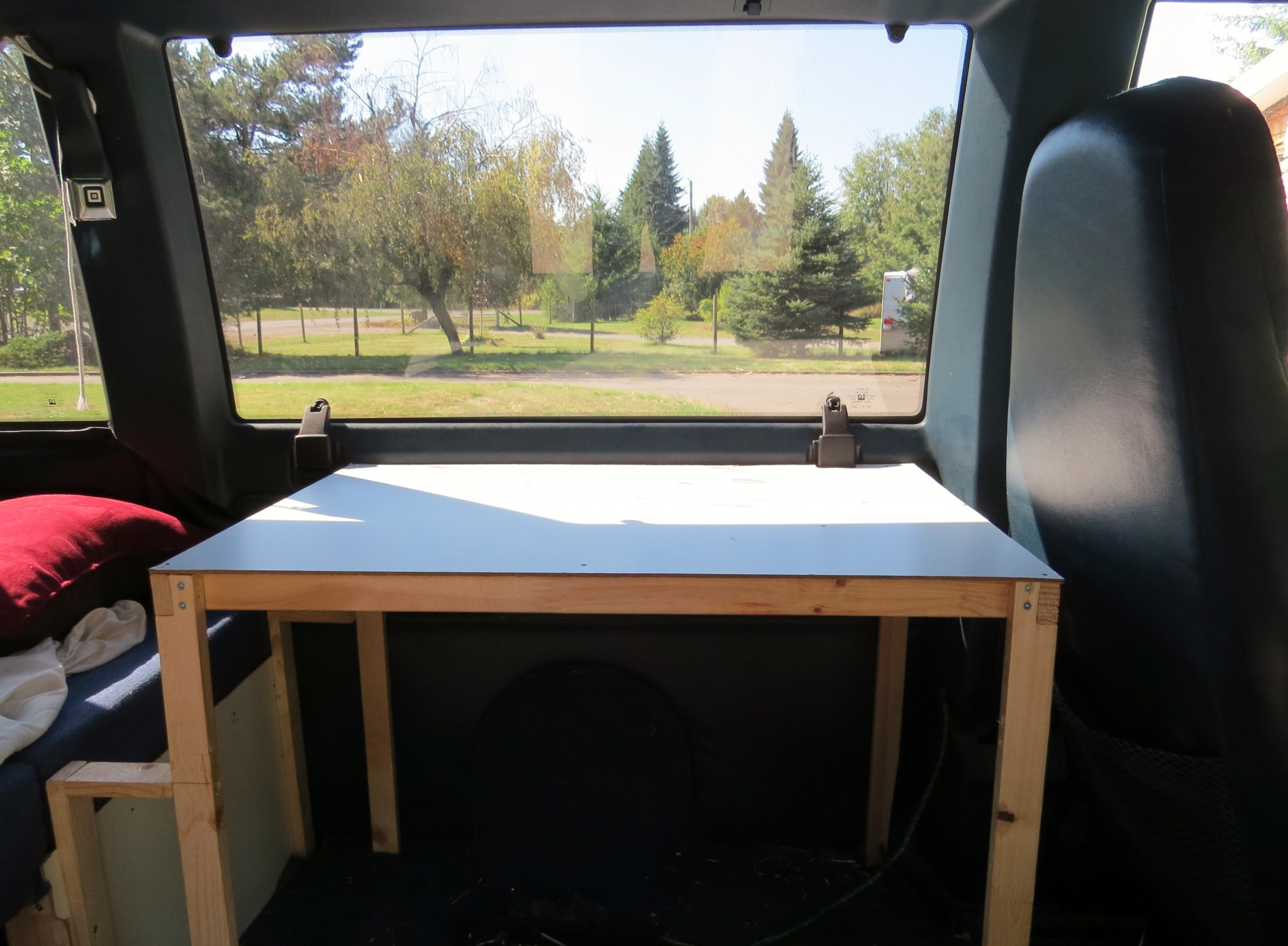 Astro van conversion cabinet construction