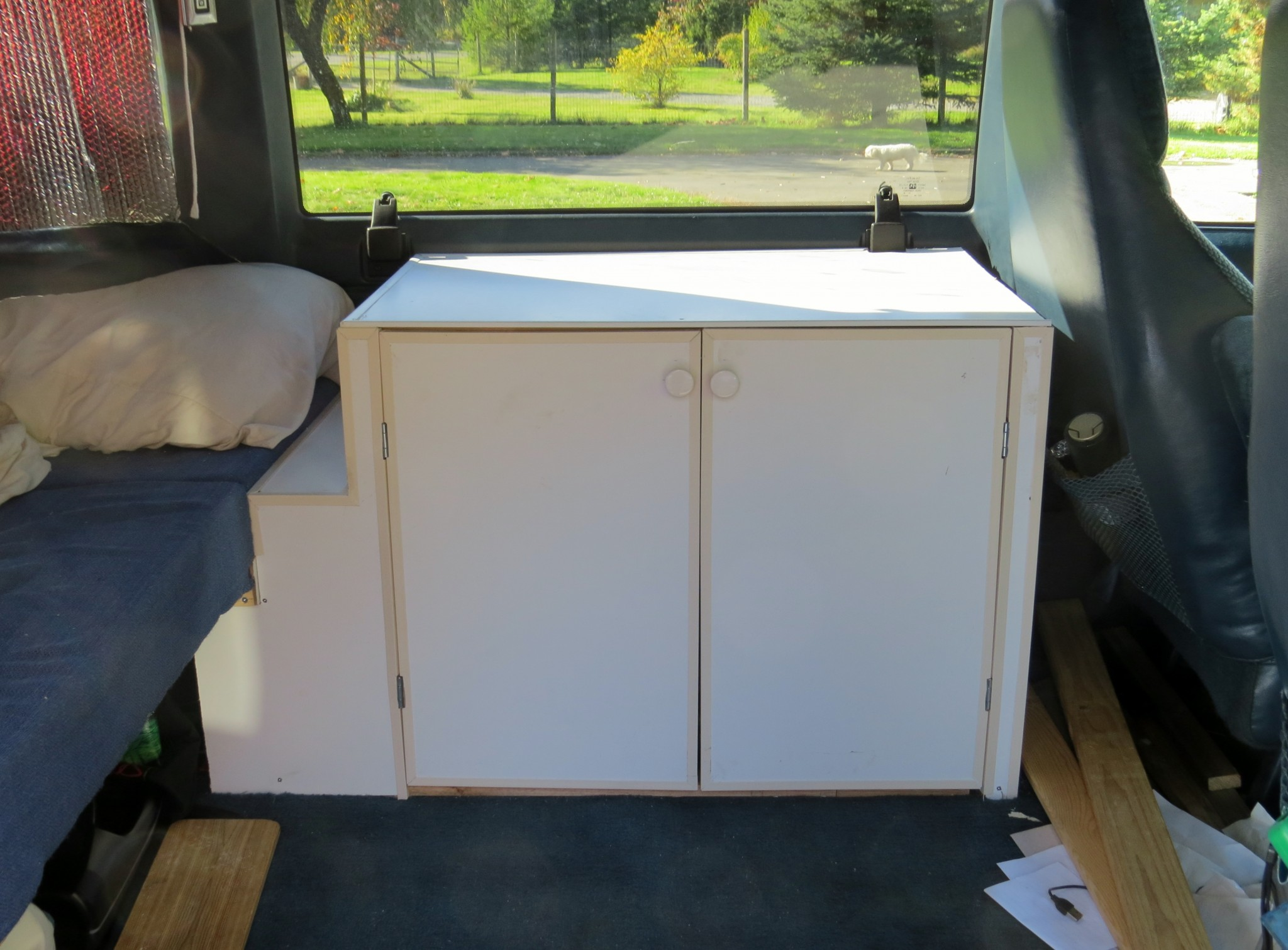 Astro van conversion cabinet finished