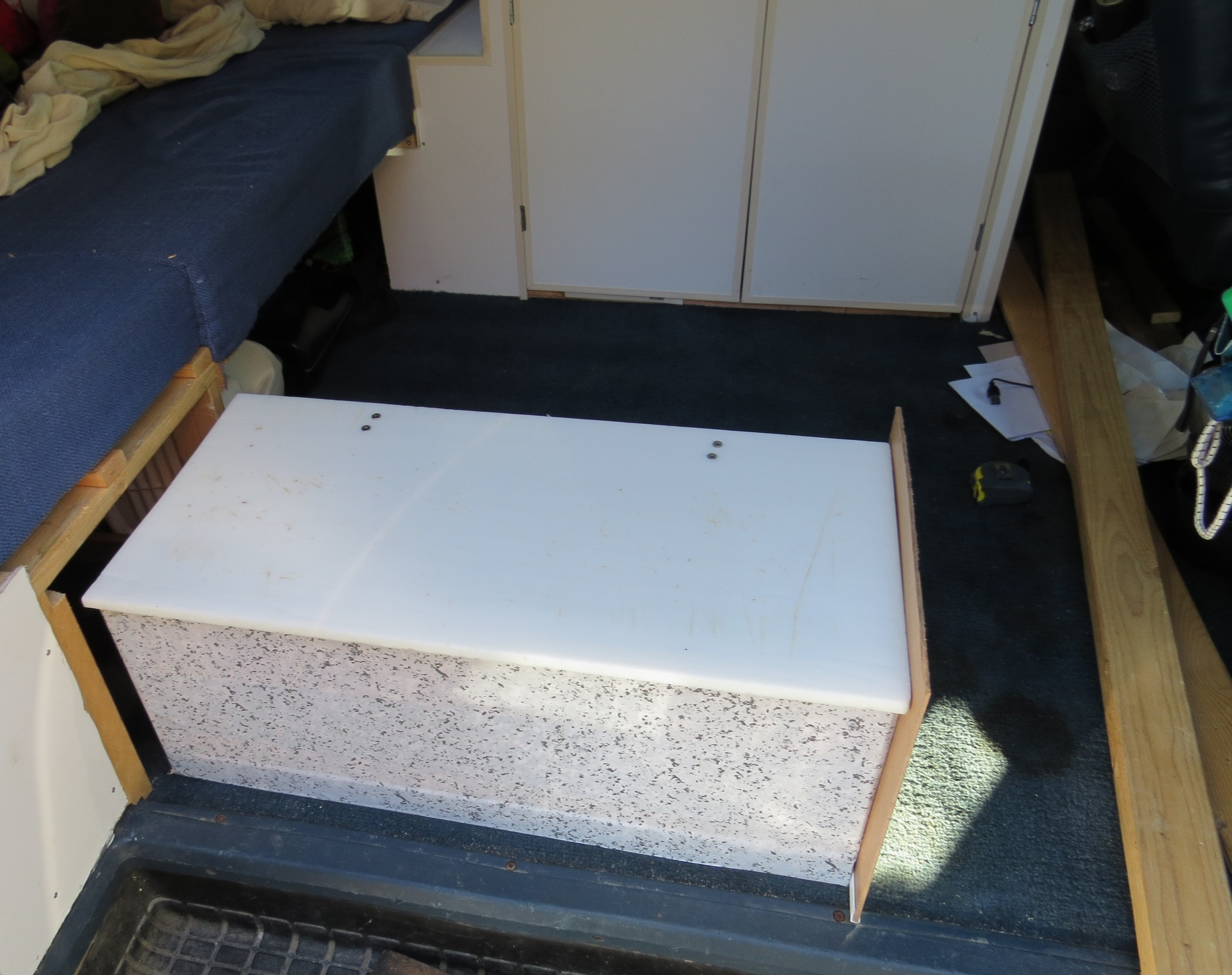 Astro van conversion under seat storage