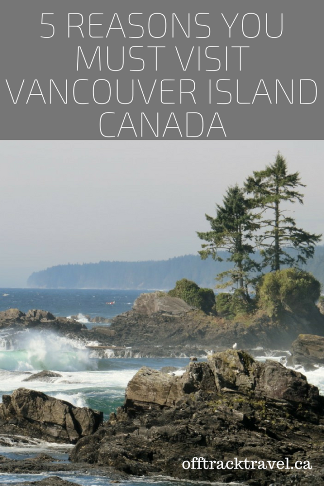 5 Reasons You Must Visit Vancouver Island, Canada - Wilderness, wildlife and outdoor adventures all wrapped up in one stunning place! Why Vancouver Island should be on your 'must visit' list. offtracktravel.ca