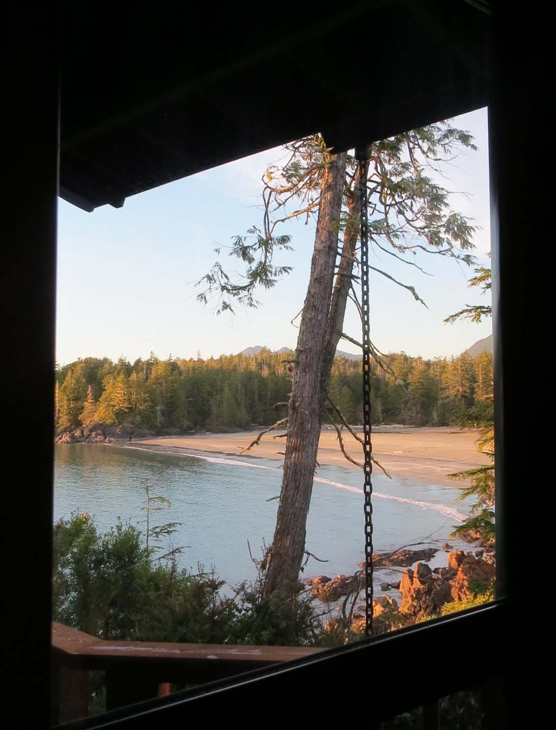 beach view from middle beach lodge