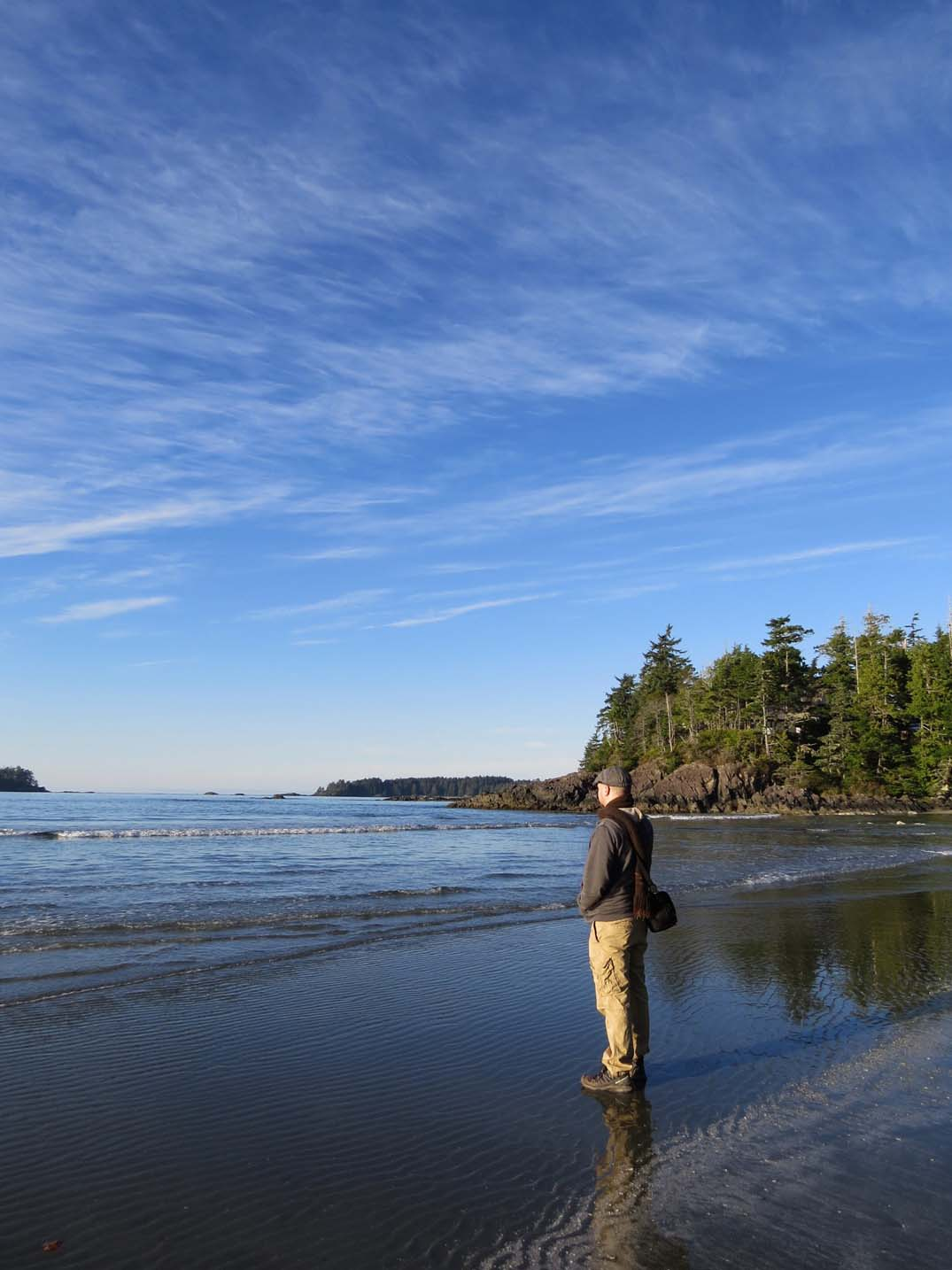 Walking on the beach near Middle Beach Lodge
