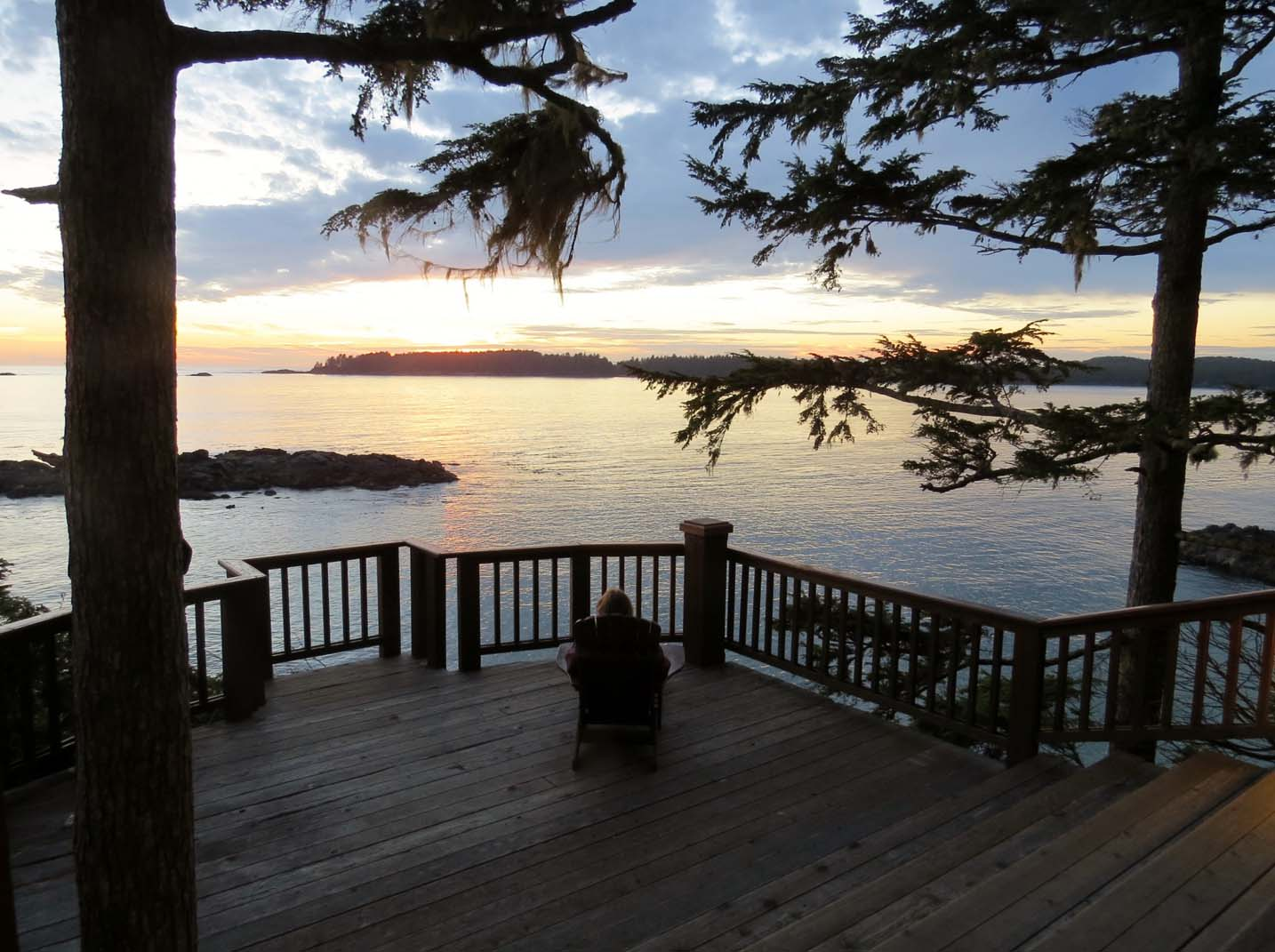 Sunset at Middle Beach Lodge, Tofino