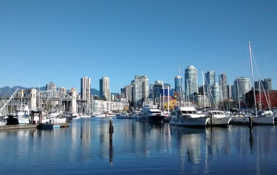 Vancouver skyline from near Granville Island