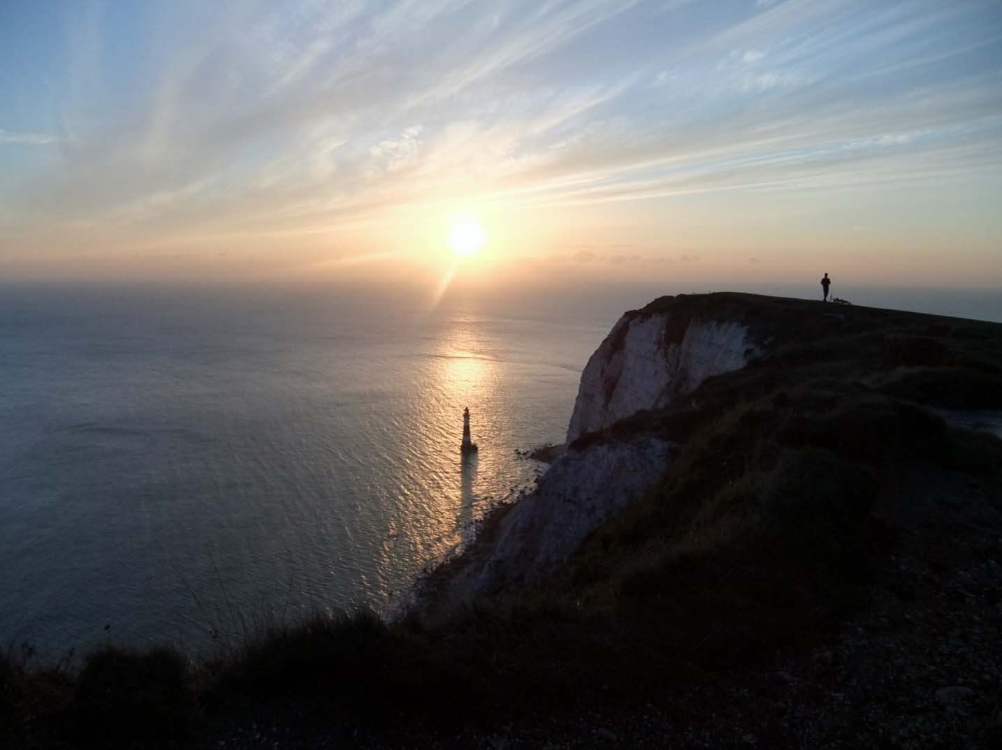 Beachey Head lighthouse winter