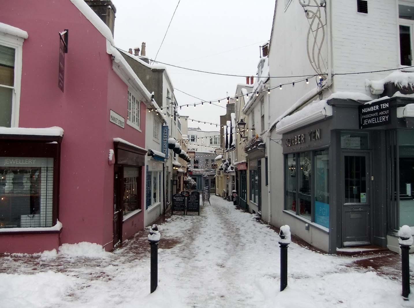 Brighton Lanes winter