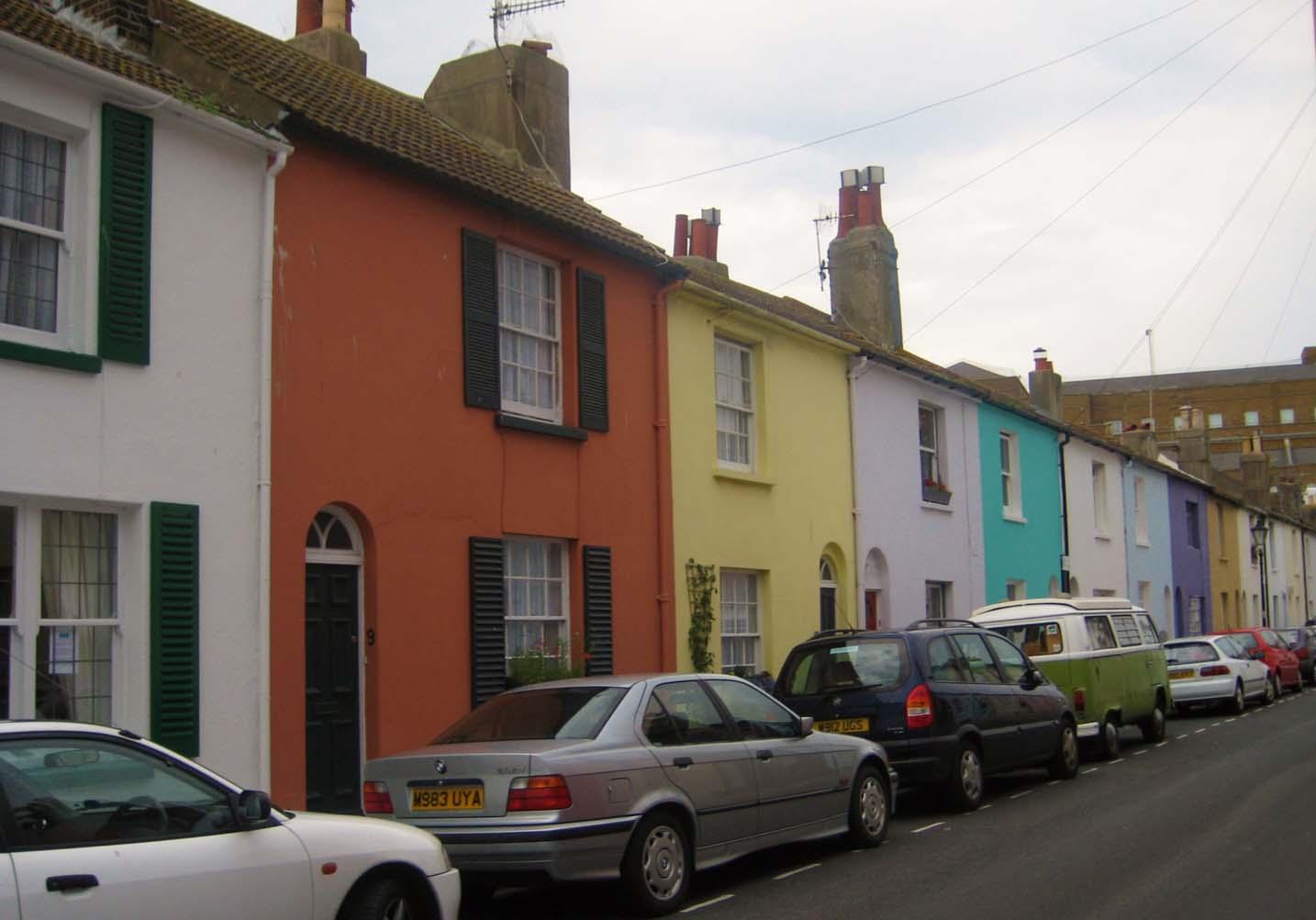 Brighton North Laine houses