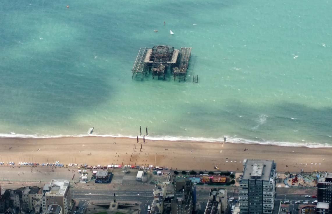 Brighton pier from above