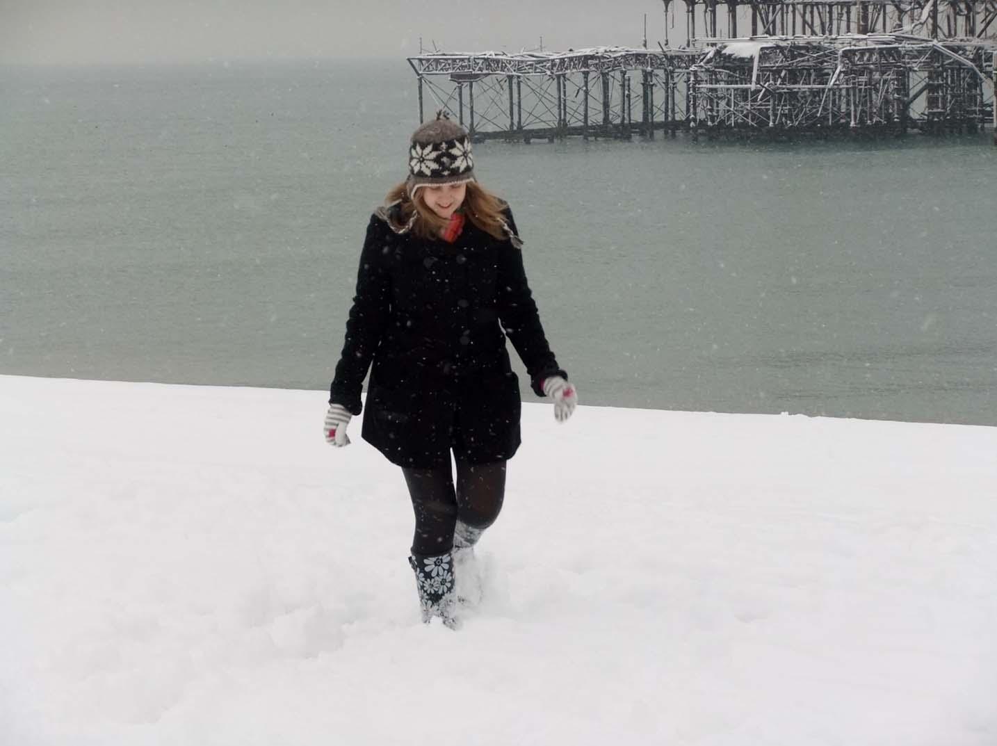 Brighton pier winter