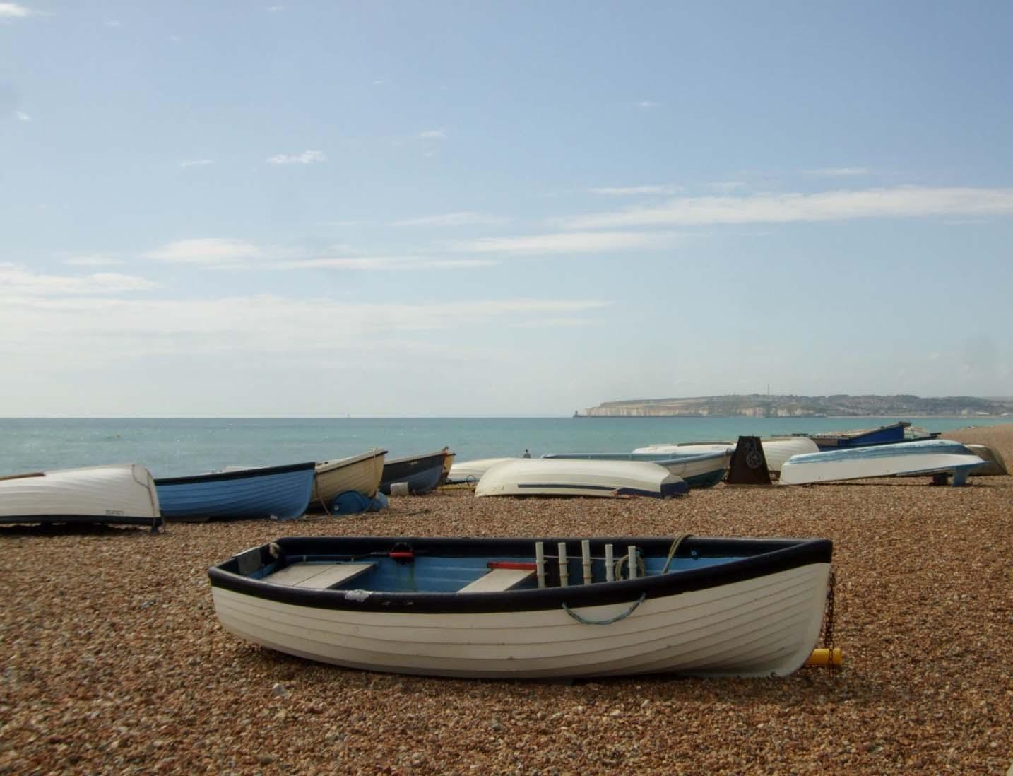 boat on seaford beach