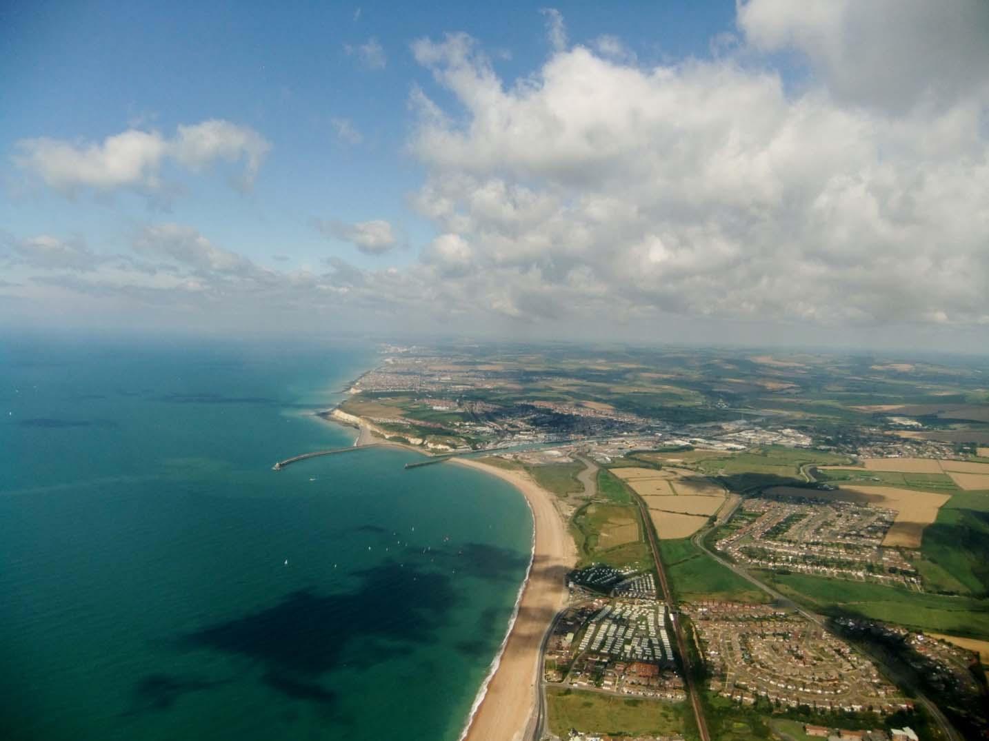 East Sussex coast summer