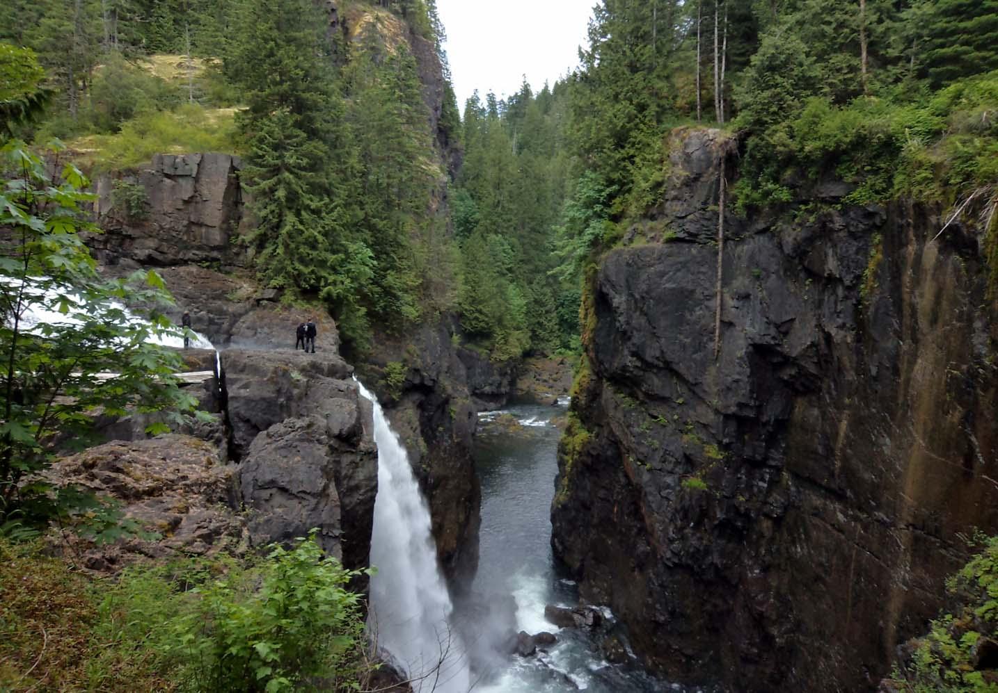 Canyon and falls at Elk Falls Provincial Park near Campbell River