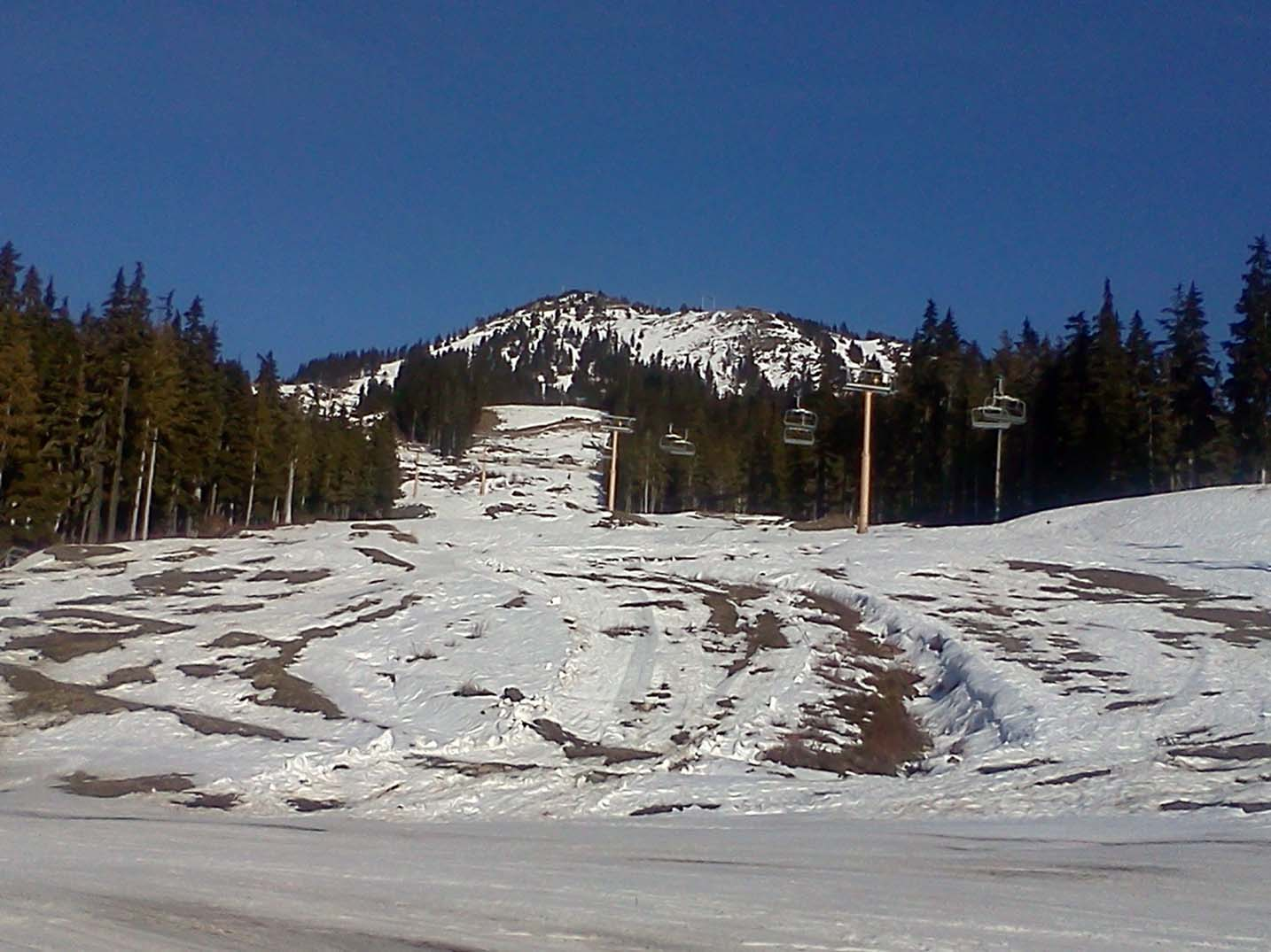 Mount Washington with limited snow