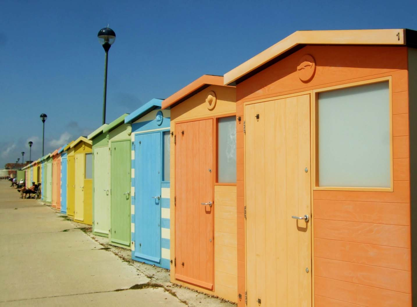 Seaford beach huts East Sussex