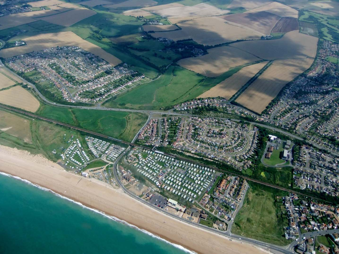 Seaford from above East Sussex