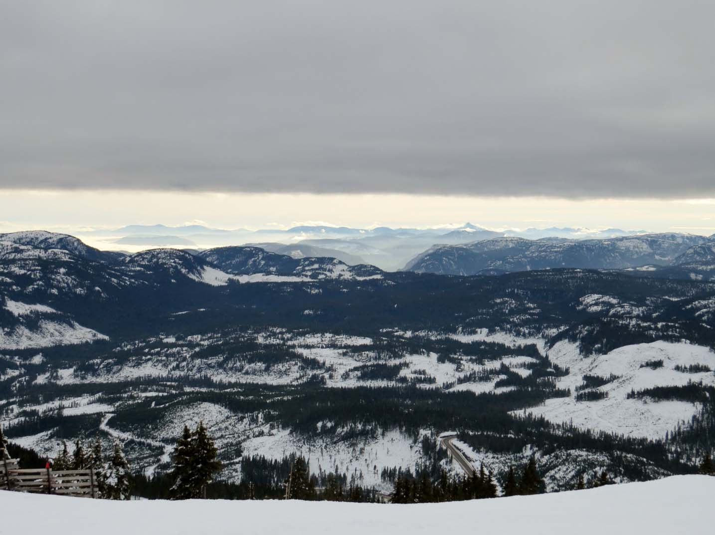 View from Mount Washington ski chairlift, Vancouver Island, Canada