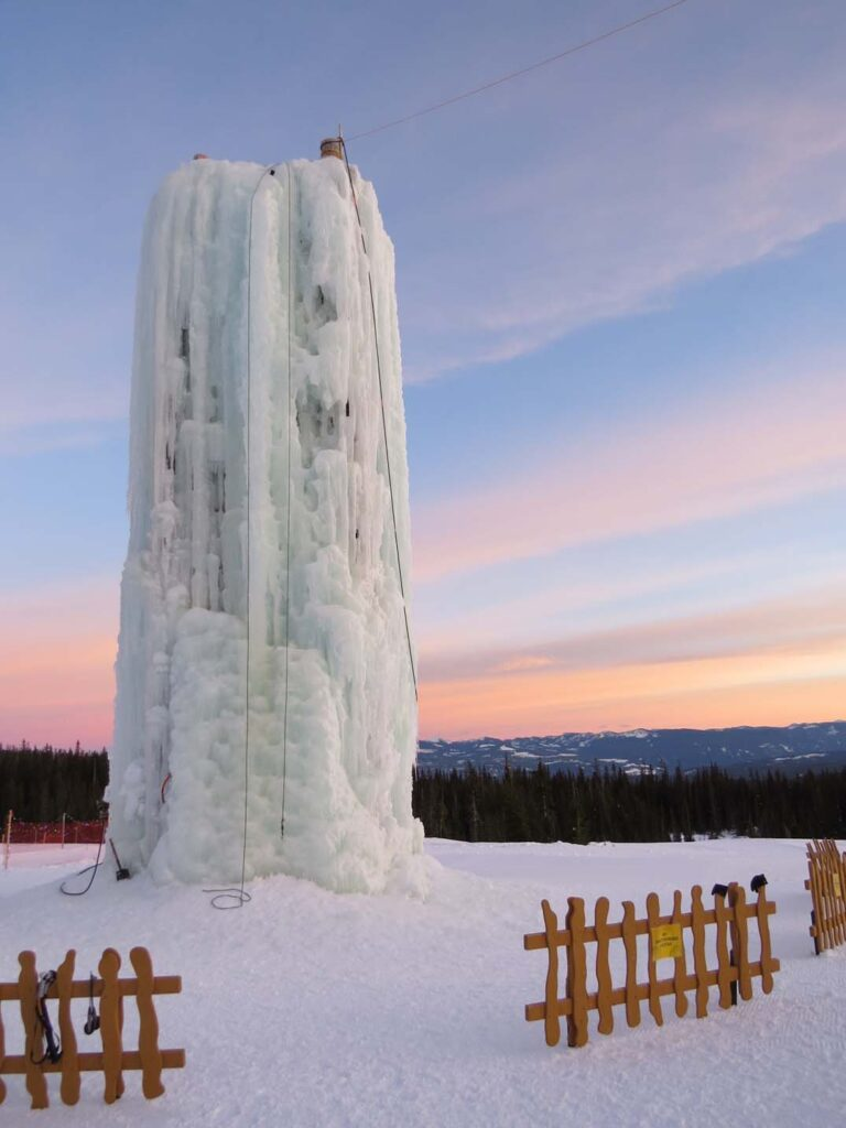 Big White BC ice climbing