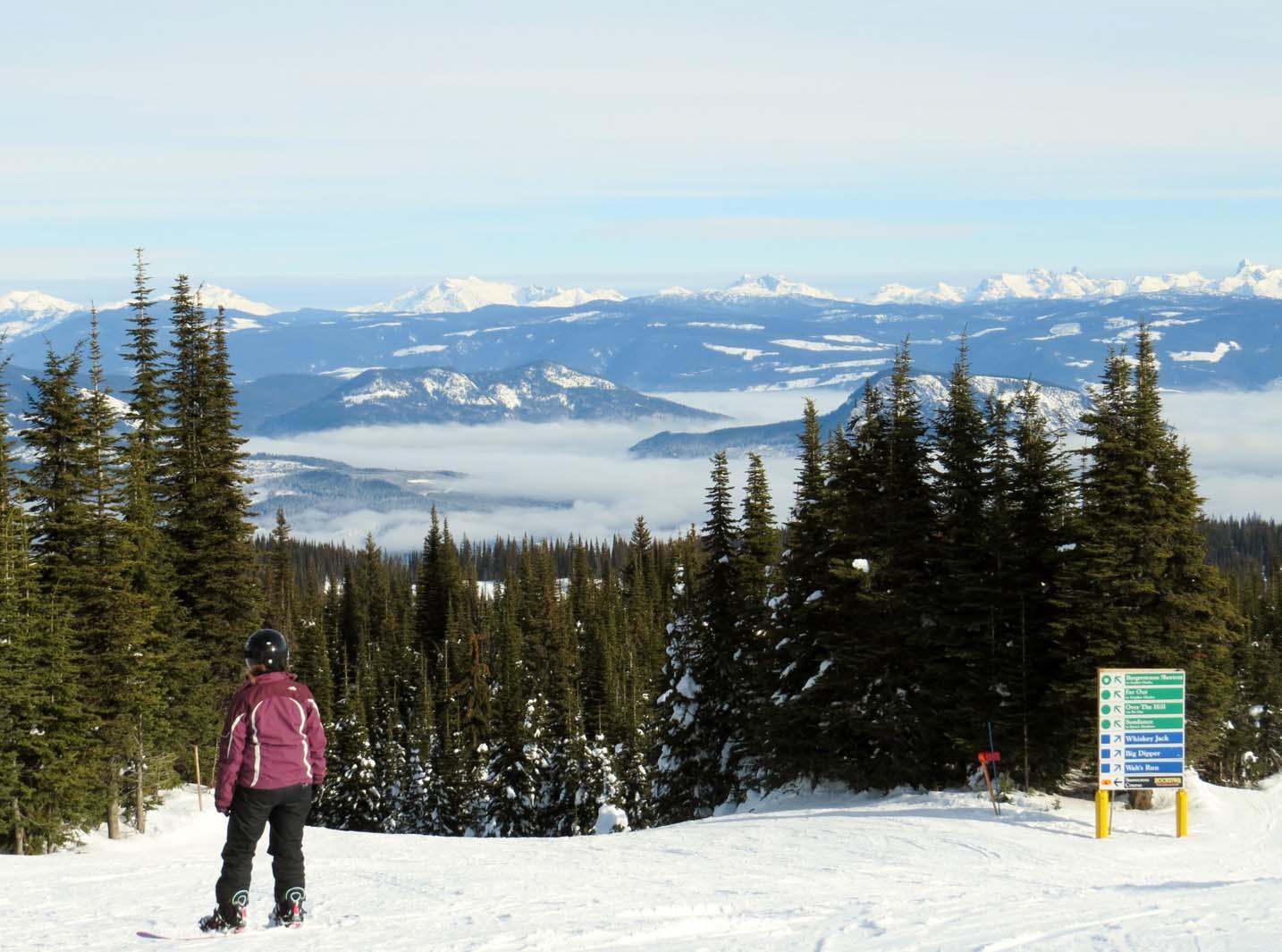 Silver Star mountain BC skiing views