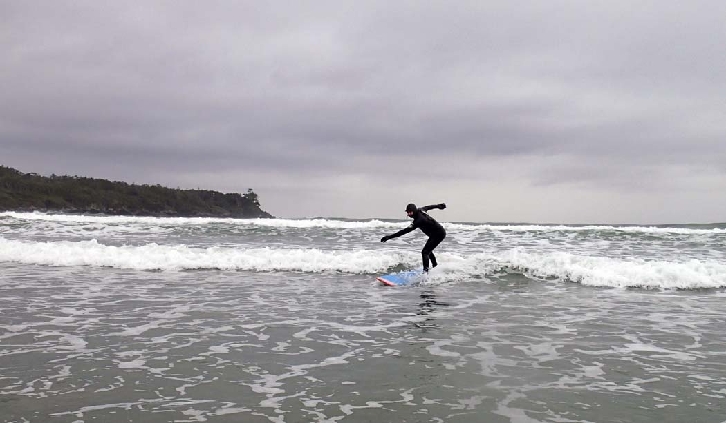 Surfing in Tofino, Canada