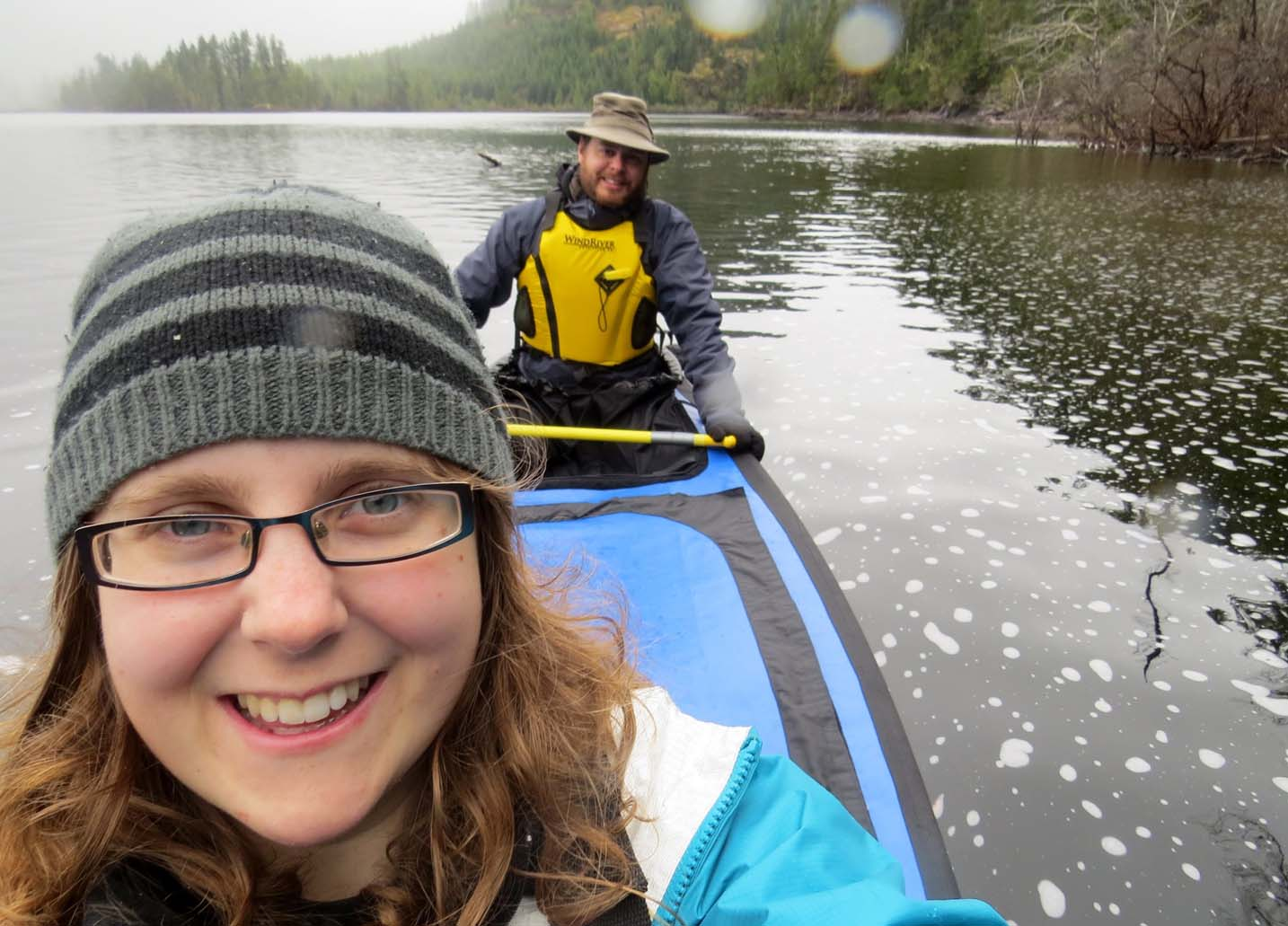 Canoeing in the rain Atluck Lake
