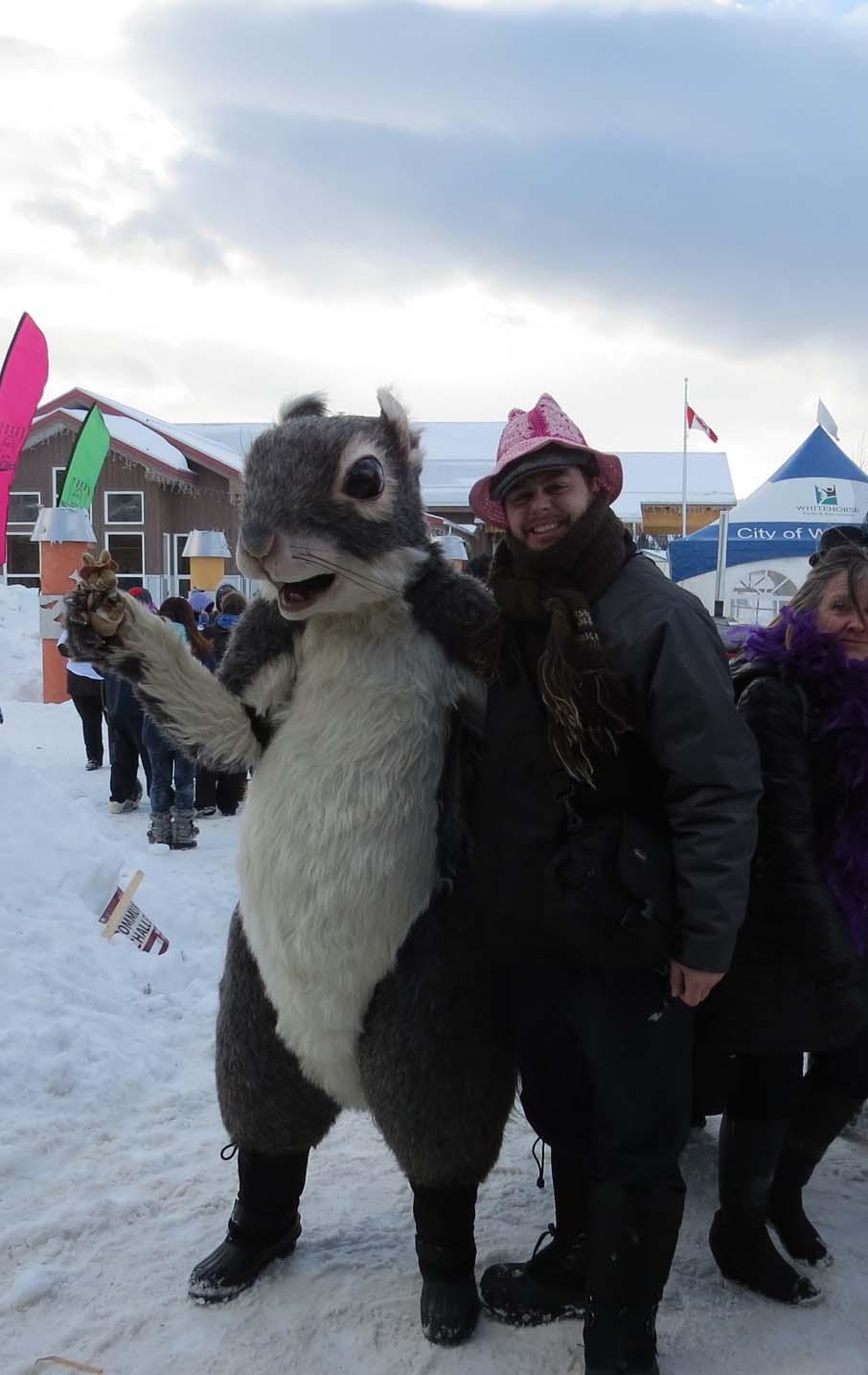 Squirel mascot redezvous festival
