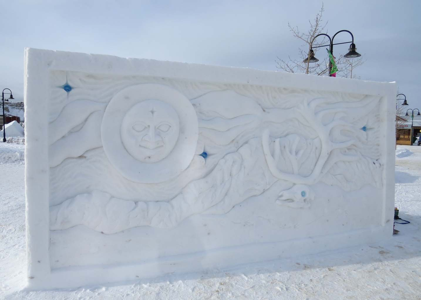 rendezvous festival sculpture in whitehorse, yukon
