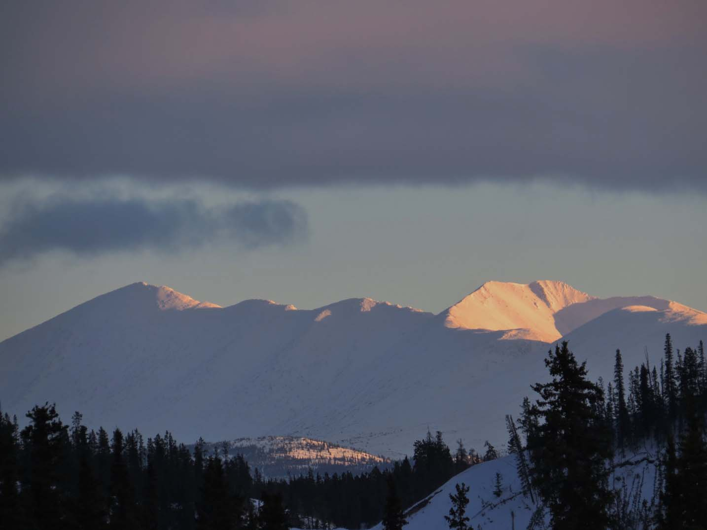 Winter sunset in Whitehorse, Yukon
